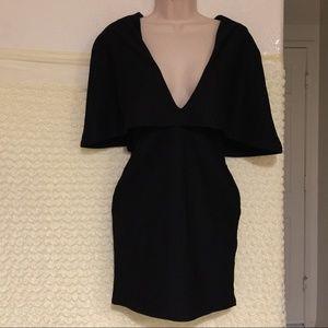 Missguided Draped Dress BLACK Size 6 #41